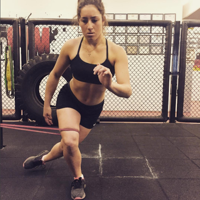 Sofia Goggia gyming hard for the season ahead, from her Instagram.