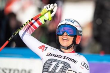 Stephanie Venier's first world cup victory